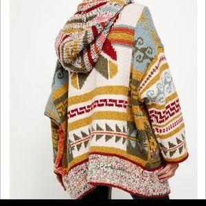 Free People Hooded Open Cardigan Coat